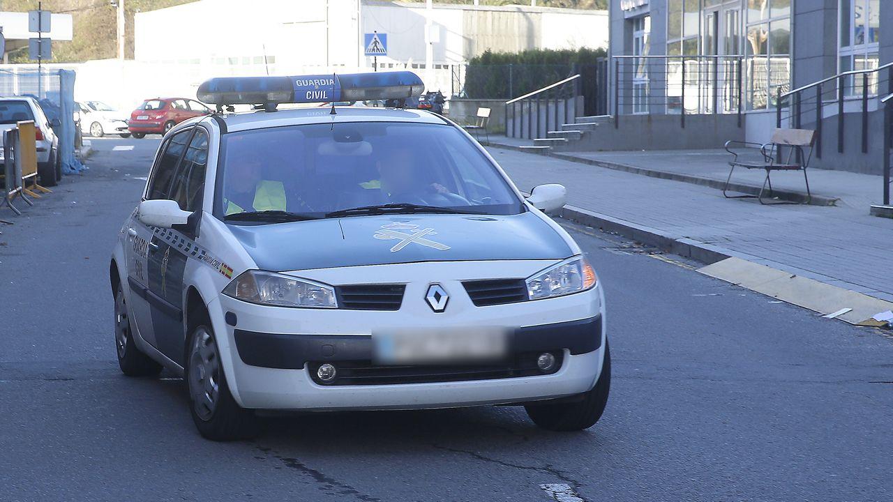 .Llegada al cuartel de la Guardia Civil de Lonzas, en A Coruña, del sospechoso de la desaparición de Diana Quer.