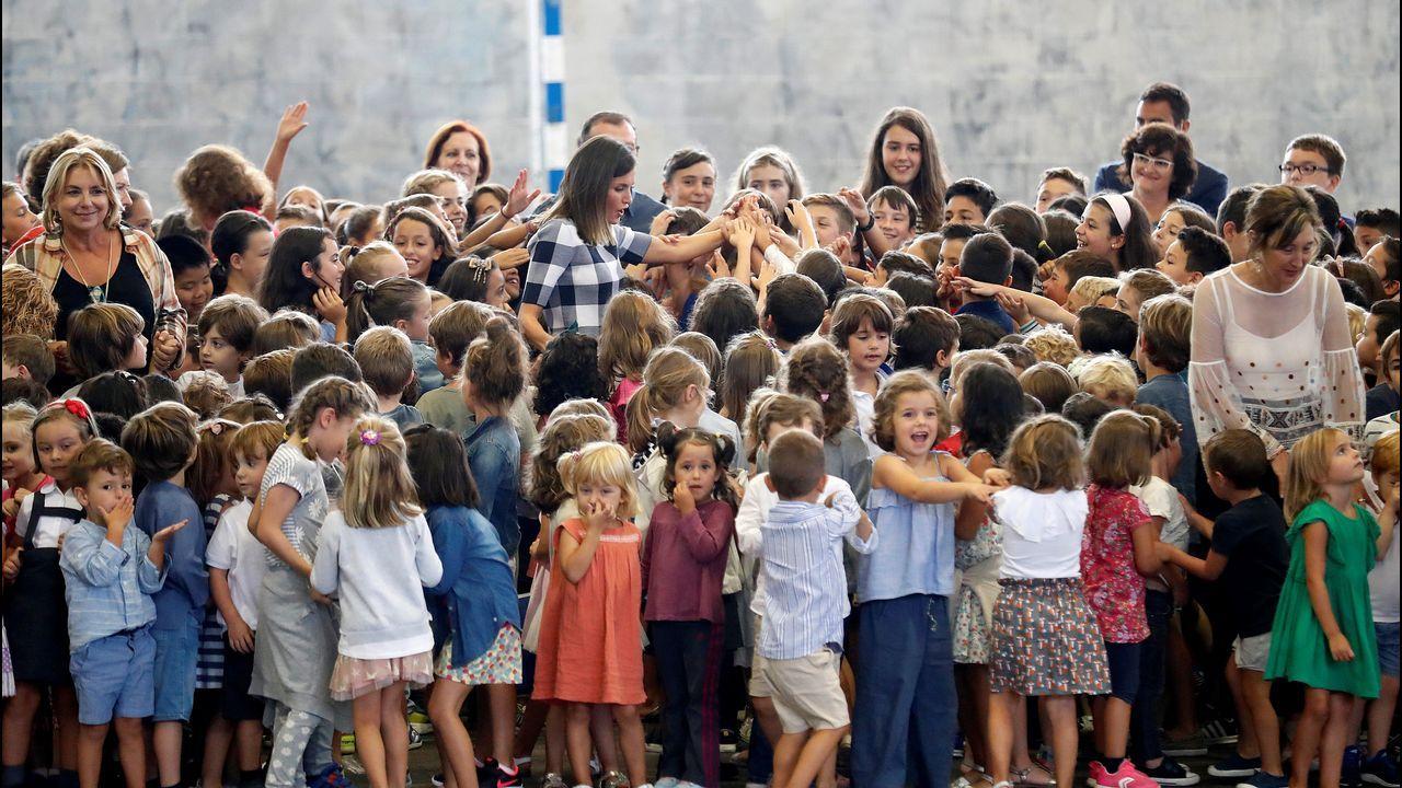 La reina Letizia visitó el colegio público Baudilio Arce de Oviedo para presidir el acto oficial de apertura del curso escolar 2018/2019