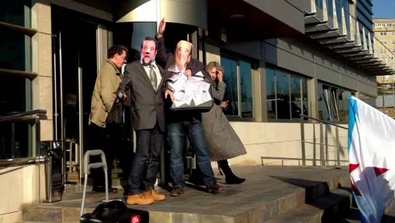 Concentración de la CIG en Ferrol contra los recortes del Gobierno