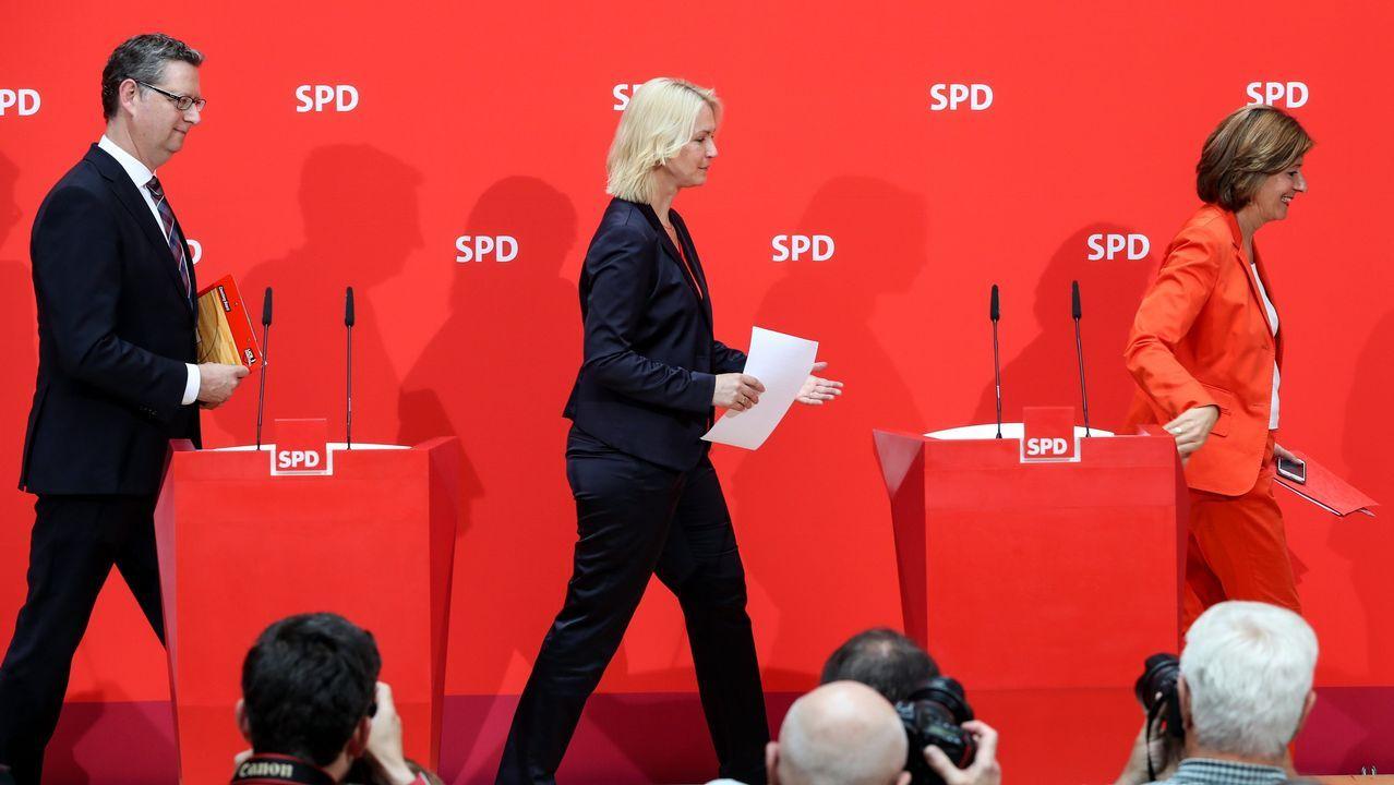El partido ha optado por un trío para asumir las riendas de manera interina: Thorsten Schäfer-Gümbel, Manuela Schwesig y Malu Dreyer