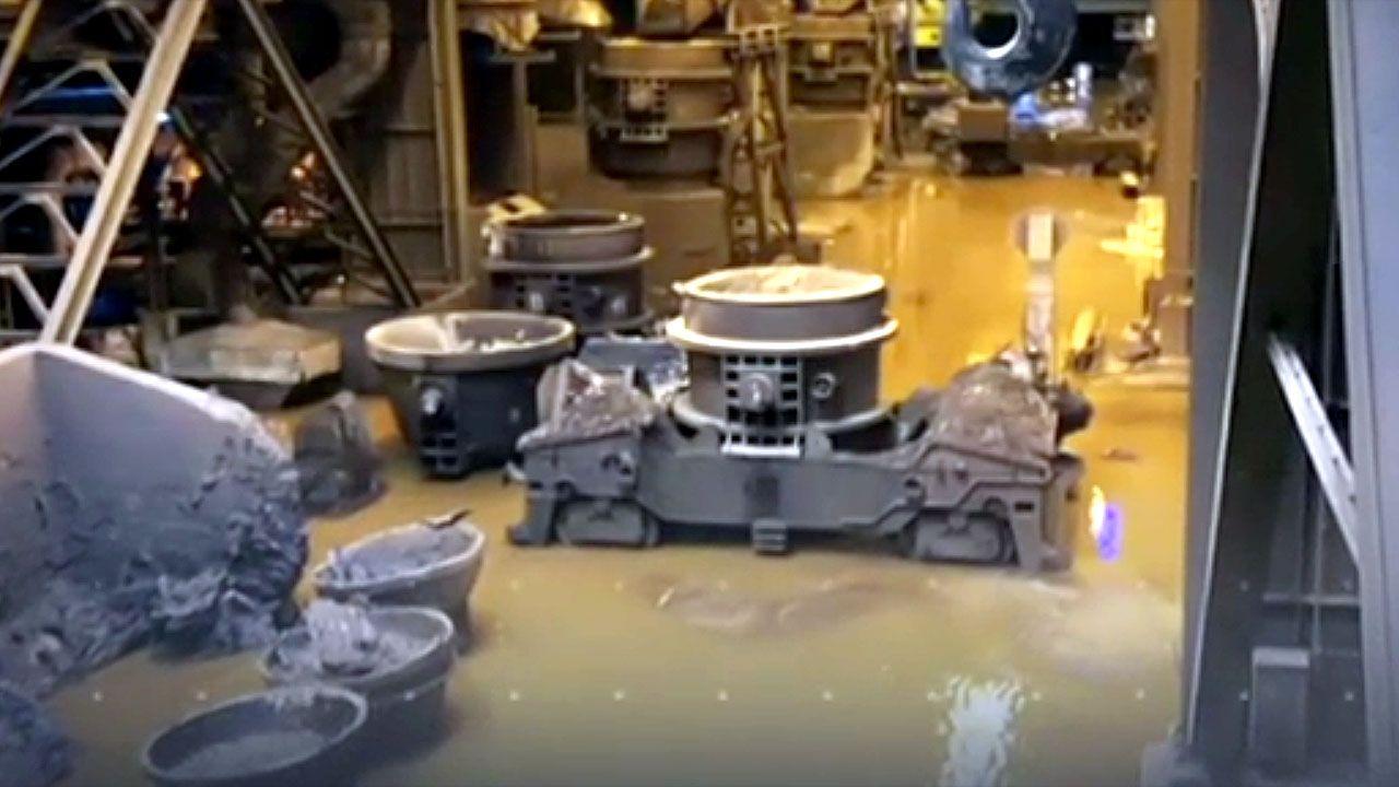 Instalaciones de ArcelorMittal inundadas