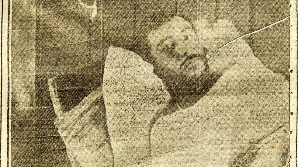 .Mamed Casanova, «Toribio», postrado en una cama en la enfermería de la cárcel de Ortigueira