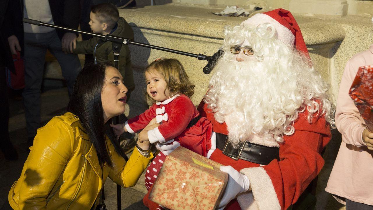 Visita de Papá Noel a Malpica