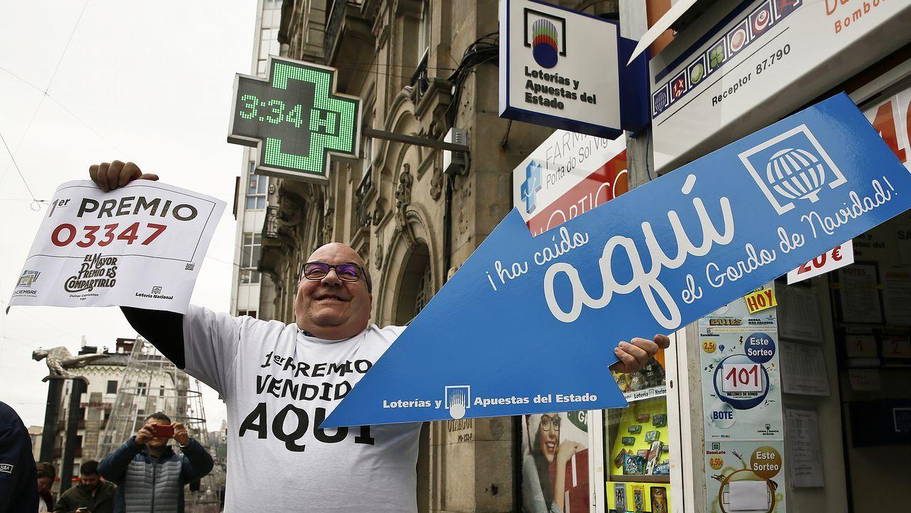 La lotería de Navidad deja en Vigo 2,7 millones en premios gordos
