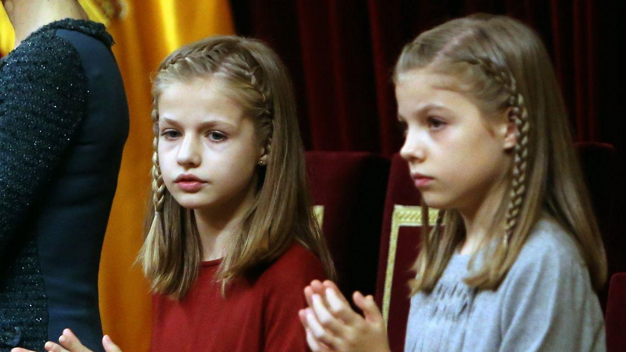 .La infanta en el acto solemne de apertura de la XII legistaltura, en noviembre de 2016