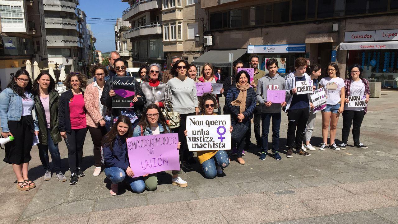 Concentración contra la sentencia de La Manada en Lalín