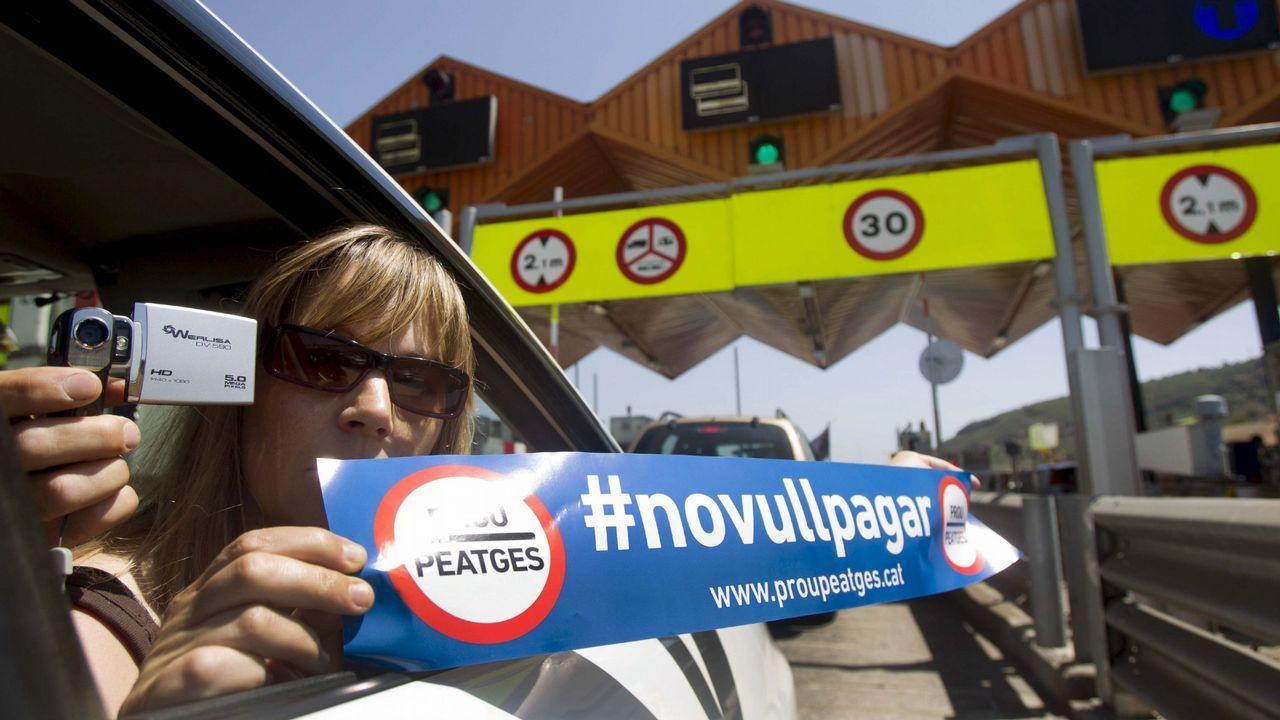 Protesta contra los peajes en Cataluña