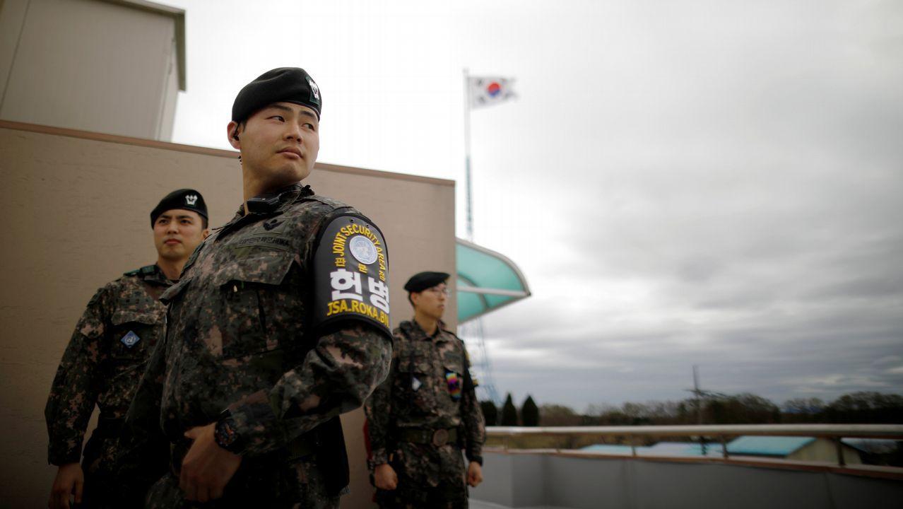 Encuentro histórico entre los líderes de las dos Coreas tras 65 años de conflicto.Manifestantes en Corea del Sur contra la cancelación de la cumbre entre Piongyang y Washington