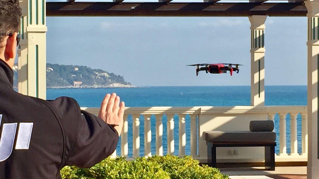 .Control de un dron Mavic Air con la mano