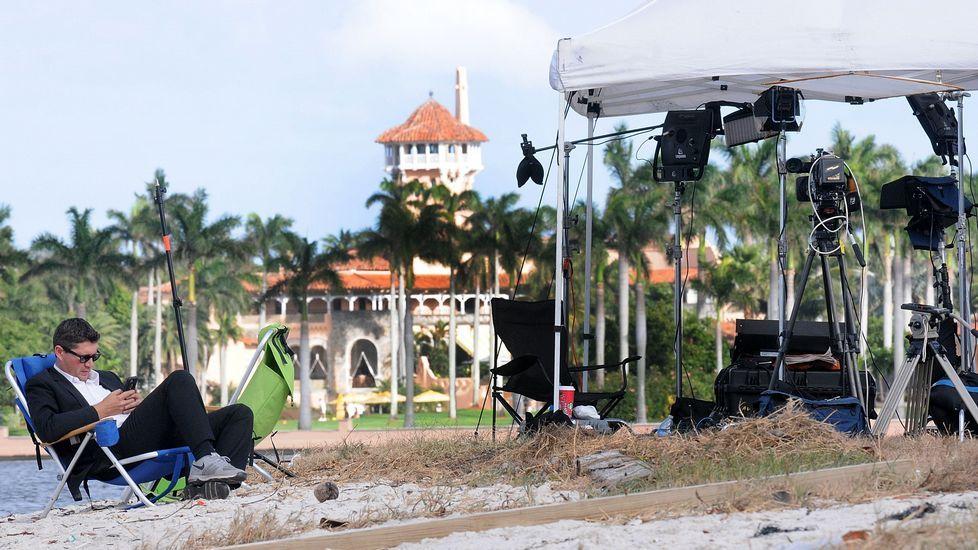 Trump viajó a su mansión de Palm Beach, Florida, para pasar el día de Acción de Gracias