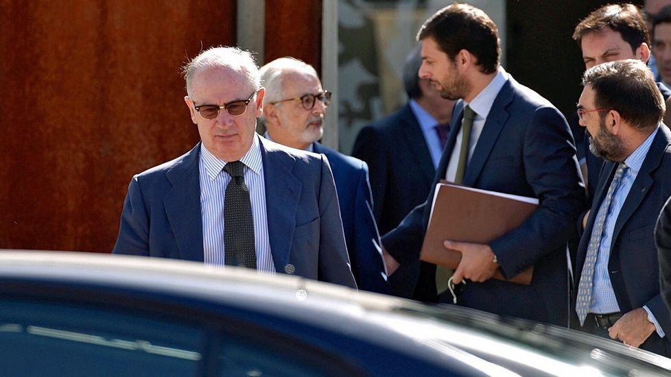 Las ganancias del G6 bancario.Rodrigo Rato, que en el 2011 era presidente de Bankia, en el momento de salida a bolsa de la entidad financiera.