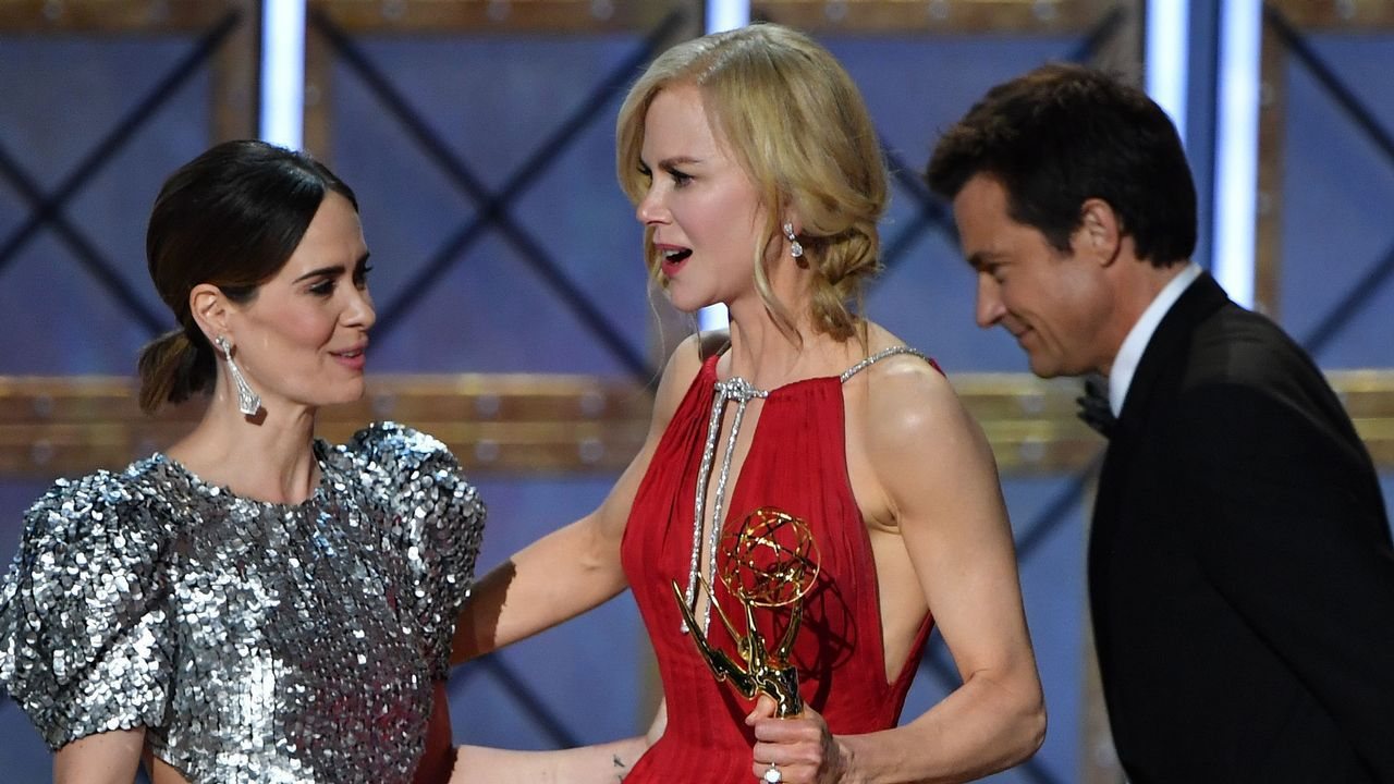 Nicole Kidman recoge el premio de mejor actriz de mini-seriepor «Big Little Lies»