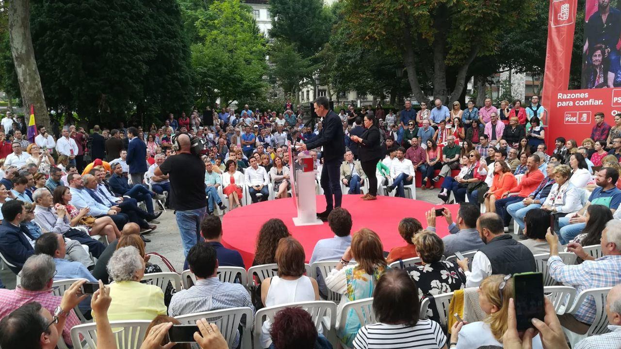 Pedro Sánchez inicia en Oviedo su campaña de reivindicación de los logros de su Gobierno
