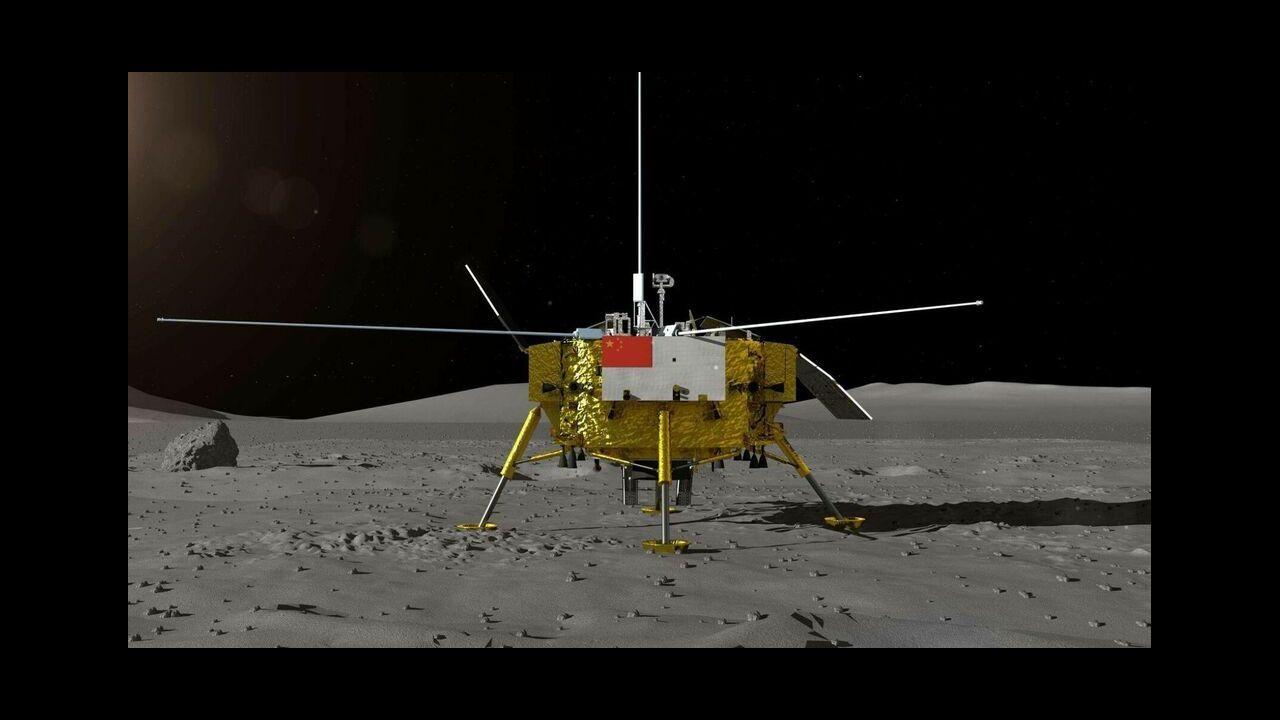 La sonda Chang'e 4 se posó en el cráter lunar Von Kármán, de más de 180 kilómetros de diámetro