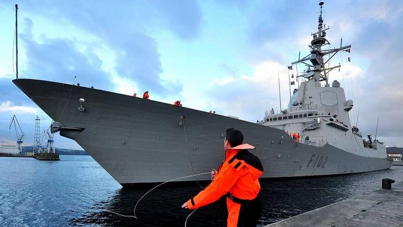 «Ferrol Mola».La «Almirante Juan de Borbón», en una imagen de archivo