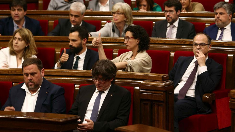 Así fue el juicio del caso Palau.Millet, a la salida de la Audiencia de Barcelona el pasado mes de enero