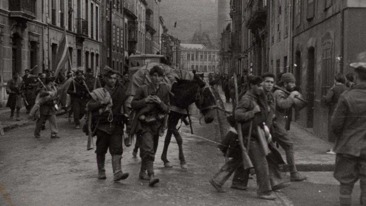 Entrada de las tropas nacionales en La Felguera