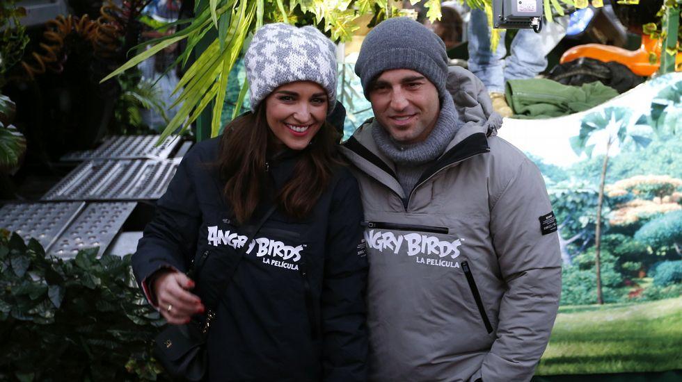 David Bustamante y Paula Echevarría, en la cabalgata de Reyes de Madrid.
