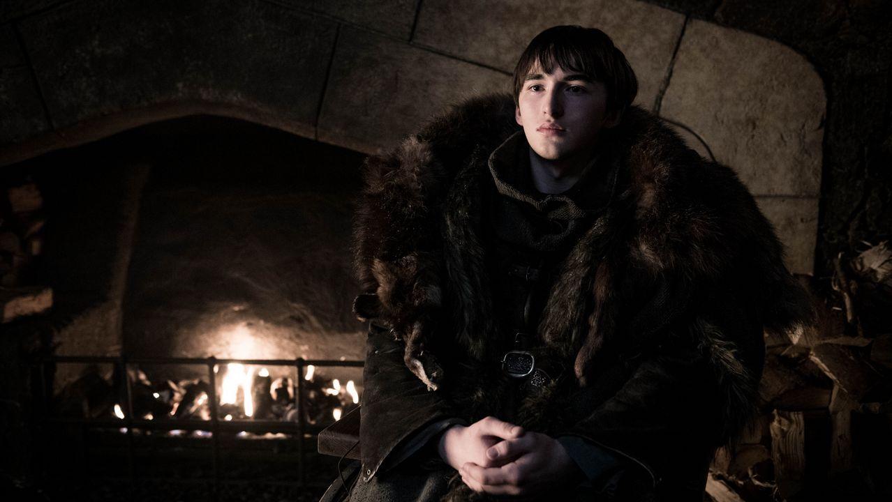 El gran ataque de los Caminantes Blancos.Bran Stark