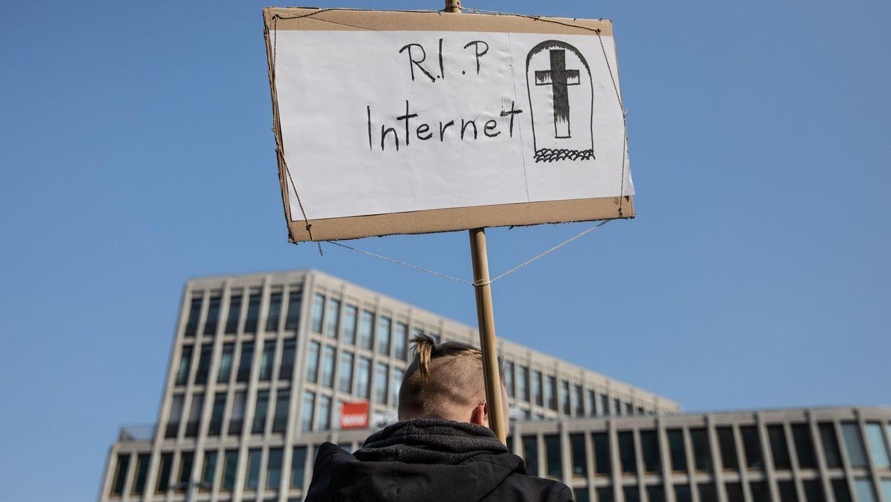 Protesta en Berlin contra la reforma de la ley de propiedad intelectual