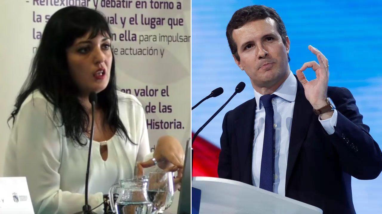 Casado promete una gran rebaja fiscal.Amelia Tiganus, 'Comadre de Oro' 2019 y Pablo Casado, 'Felpeyu' 2019