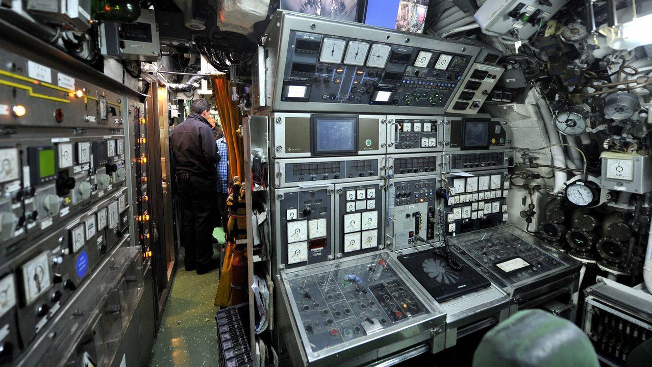 Interior del submarino Mistral