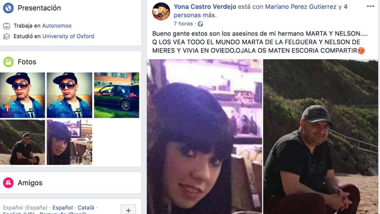Iván C..Captura del Facebook del hermano de la víctima Iván Castro