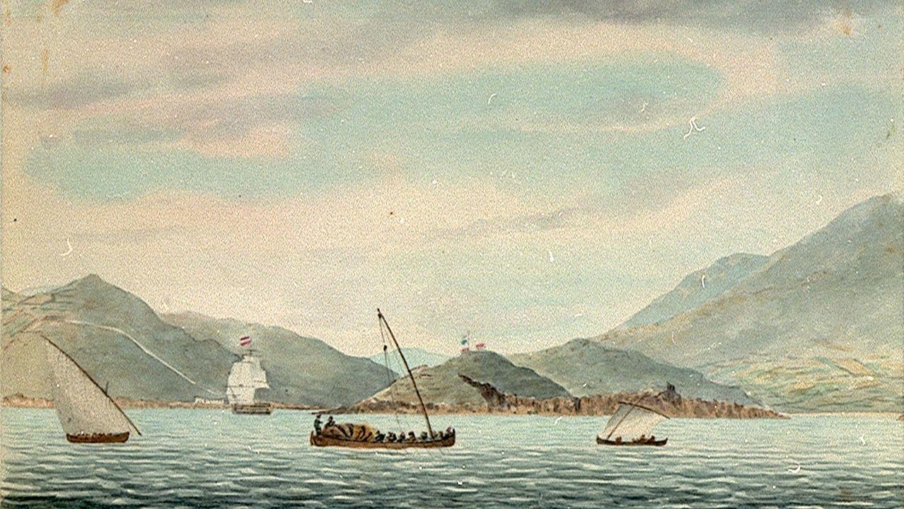 Wyllie era pintor naval y retrataba paisajes pero también embarcaciones, como en la ría de Vigo