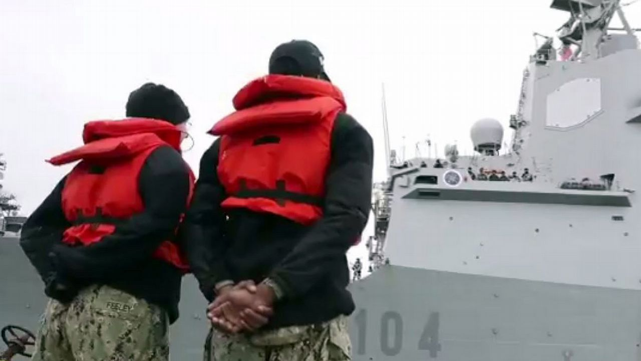 La fragata zarpó de Ferrol el 3 de enero hacia la base de Norfolk, donde amarró dos semanas después