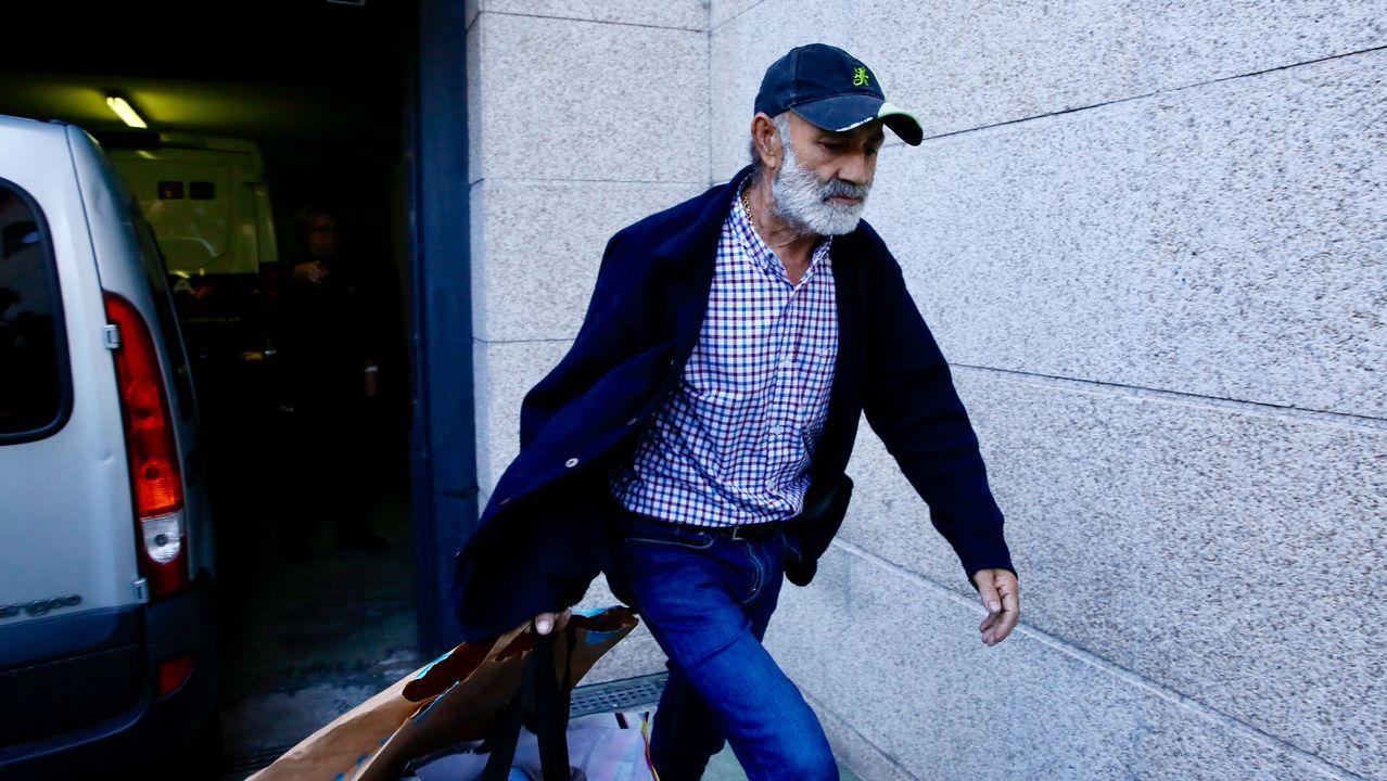 Melchor Charlín, a su salida del juzgado