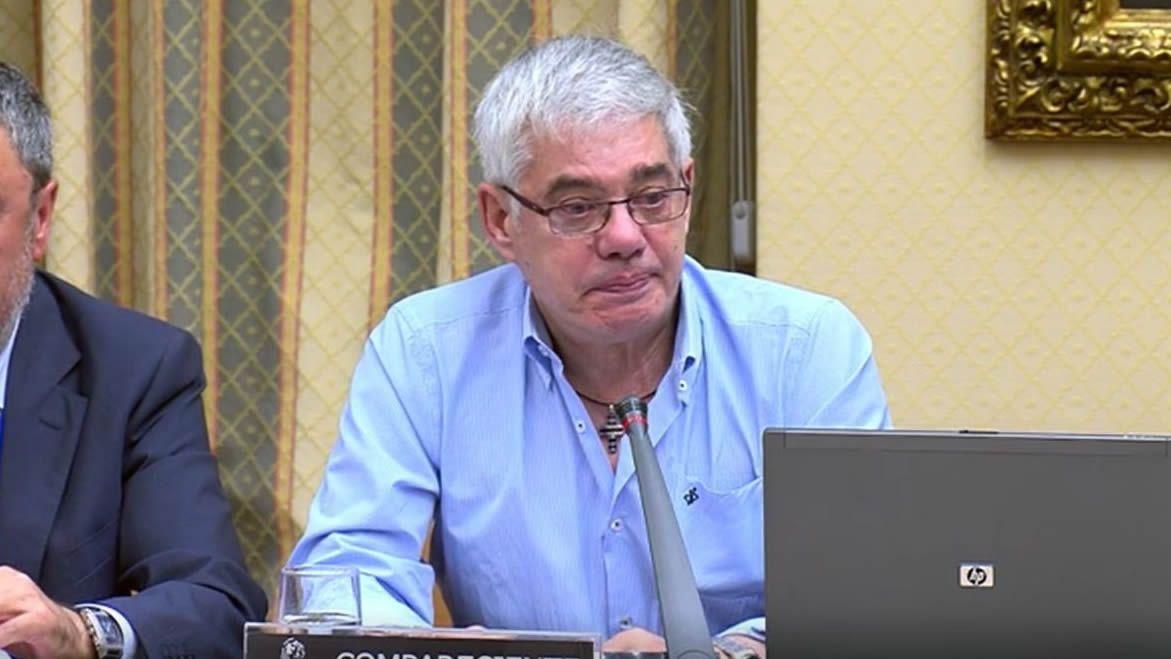 En directo y en streaming, el juicio del procés.Garzón durante su comparecencia en el Congreso