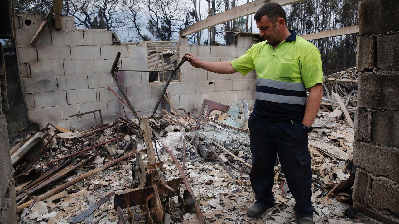 Incendio en Siado, en la comarca de Deza