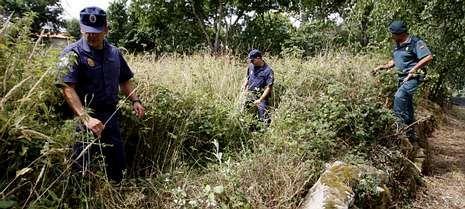 Guardias civiles del Seprona en la búsqueda de un octogenario desaparecido