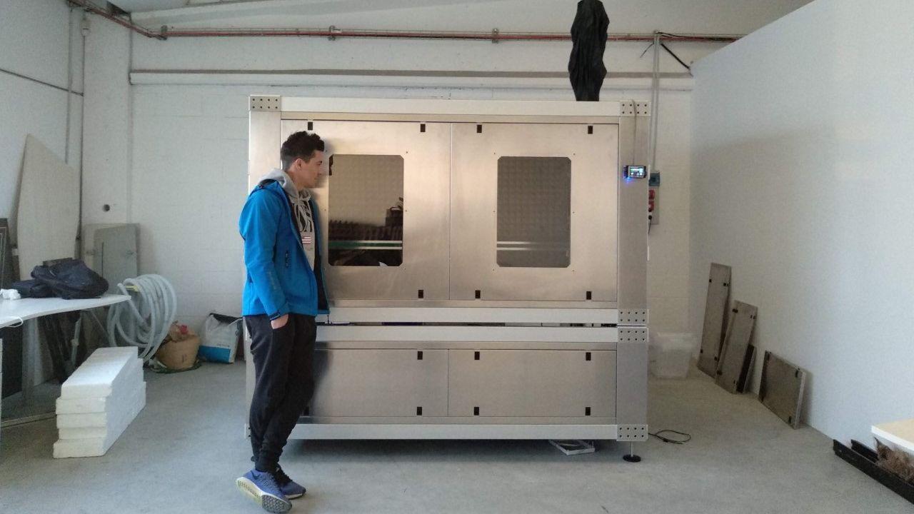 La impresora donde se producen los elementos de gran tamaño