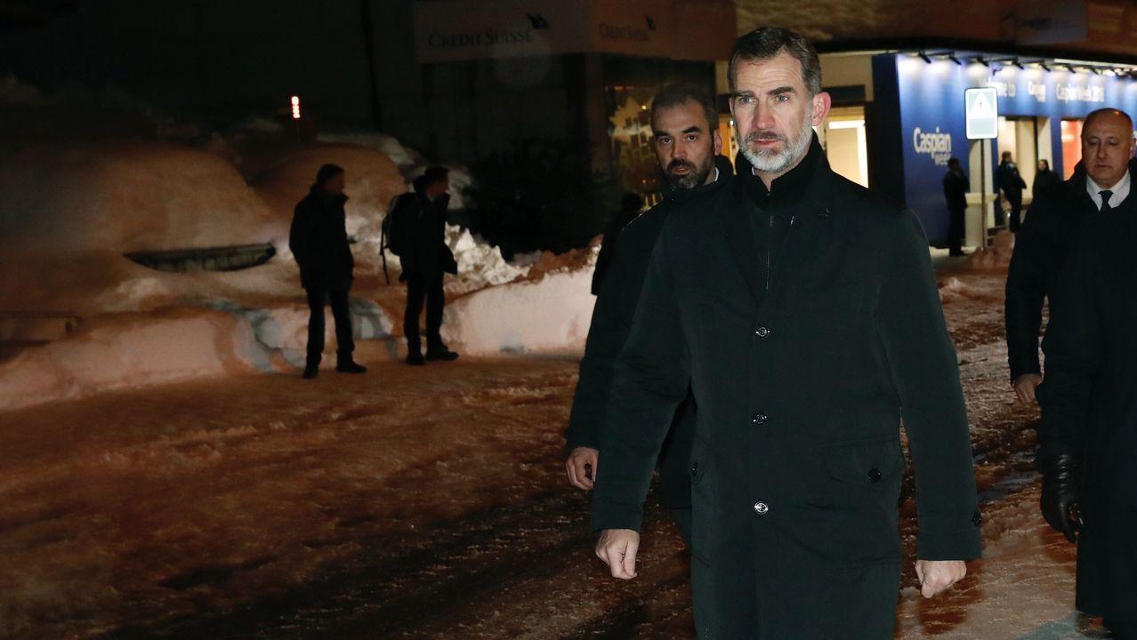 El rey llega a Davos para participar en el Foro Económico Mundial.
