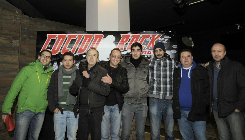 Músicos de las distintas formaciones participaron ayer en la presentación del Cocido Rock.
