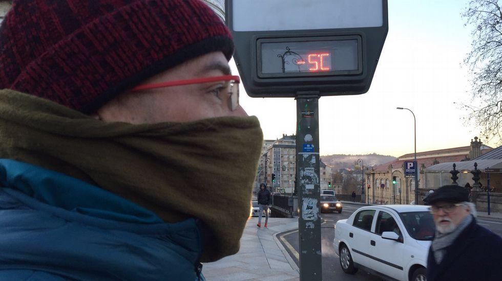 Festa dos Fachós.A primera hora de la mañana, cinco grados bajo cero