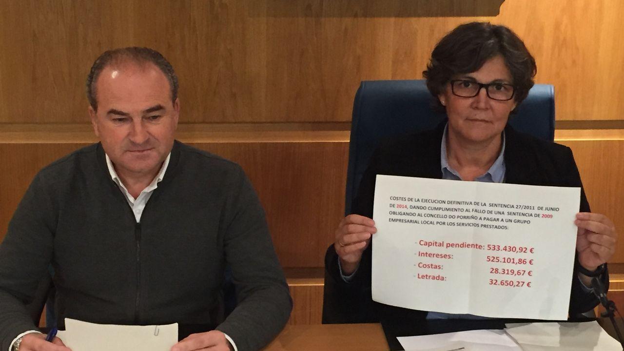 La alcaldesa de O Porriño reconoce que mintió.Foto de archivo de los bomberos