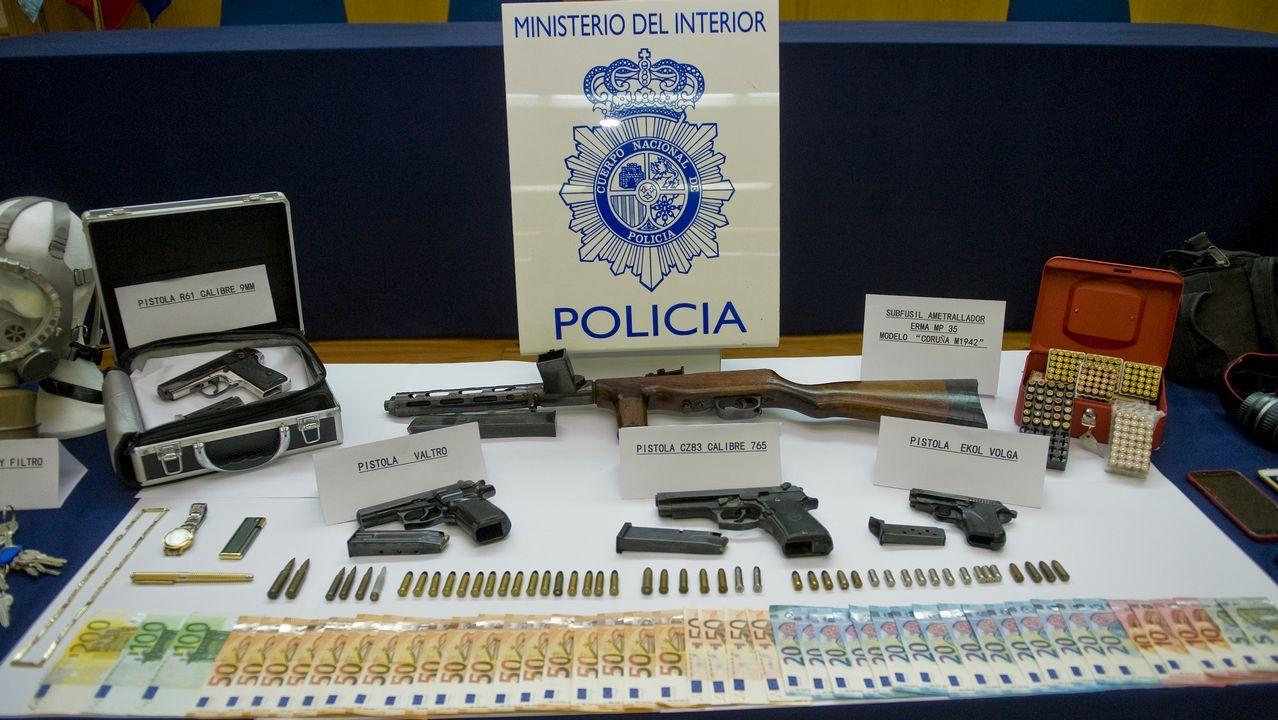 Así era el arsenal que la Policía Nacional incautó a la banda que atracó la cervecería Estrella