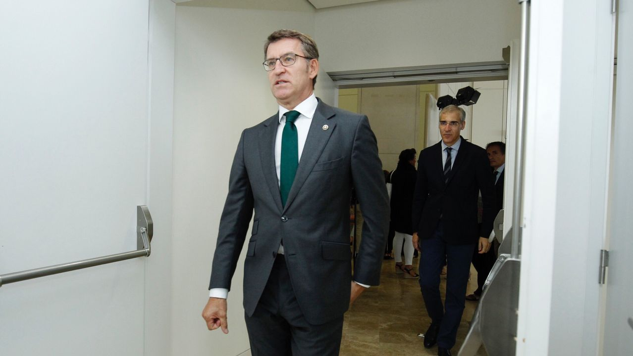 Feijoo: «El viernes sabremos a quién votan los compromisarios gallegos».Feijoo, ovacionado hoy durante el Congreso del PP