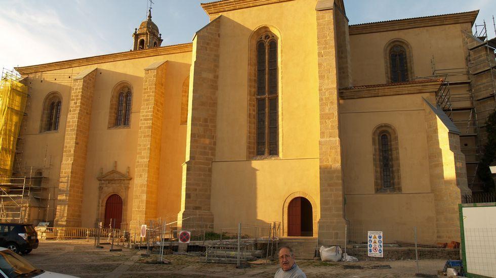 Imágenes de la transformación exterior de la iglesia de San Vicente to Pino.Las pruebas de selección de los figurantes se llevarán a cabo en la estación científica de Seoane do Courel