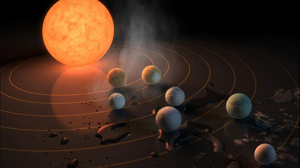 O descubrimento do sistema Trappist-1, con tres planetas que poderían albergar vida, é unha das boas noticias dos últimos meses
