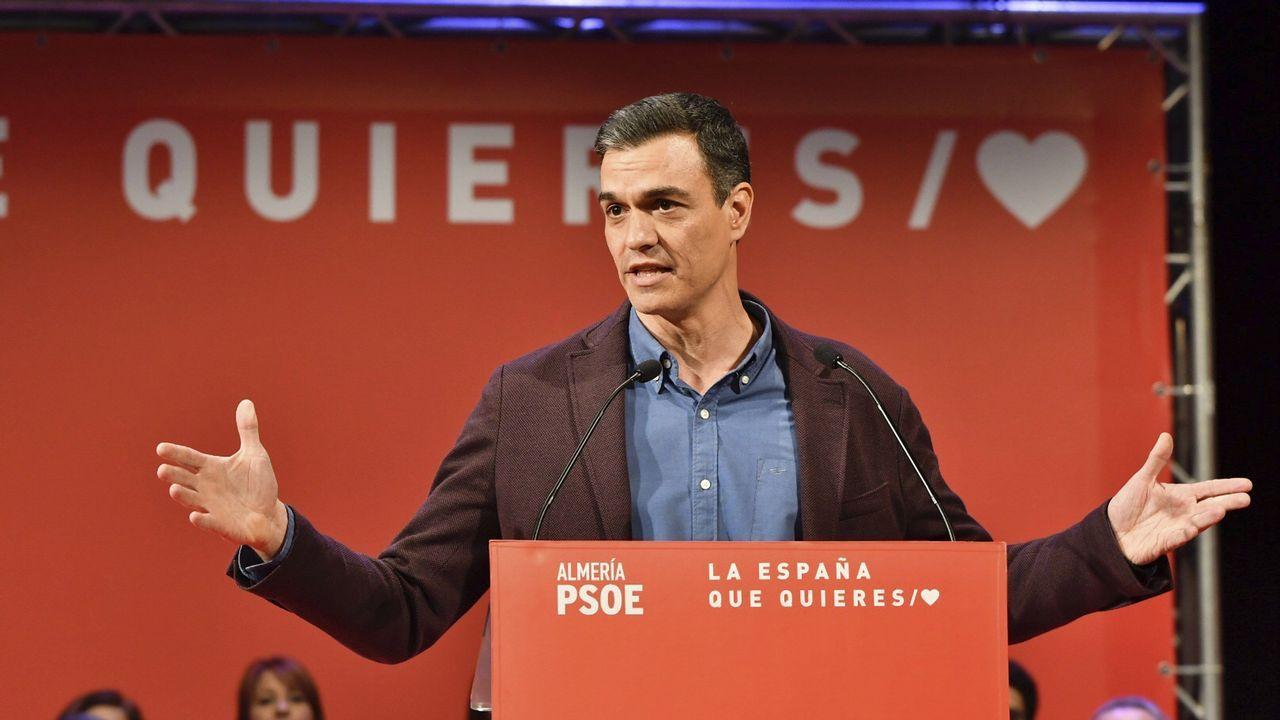 Sánchez pide a las derechas y a los independentistas «que dejen de mentir» sobre Cataluña.Los cinco candidatos