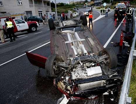 La indemnización por un accidente, en foto de archivo, acaba en la vía penal para eludir las tasas.
