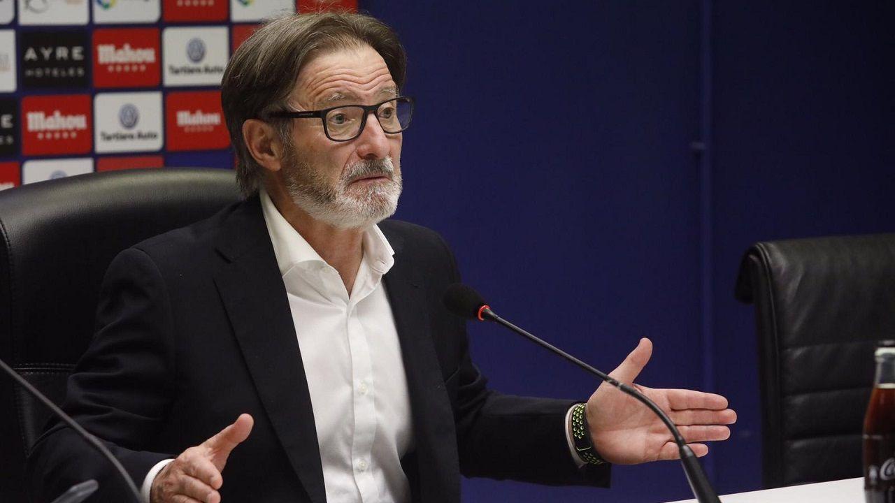 Saul Berjon Fali Real Oviedo Nastic Carlos Tartiere.Juan Antonio Anquela en sala de prensa