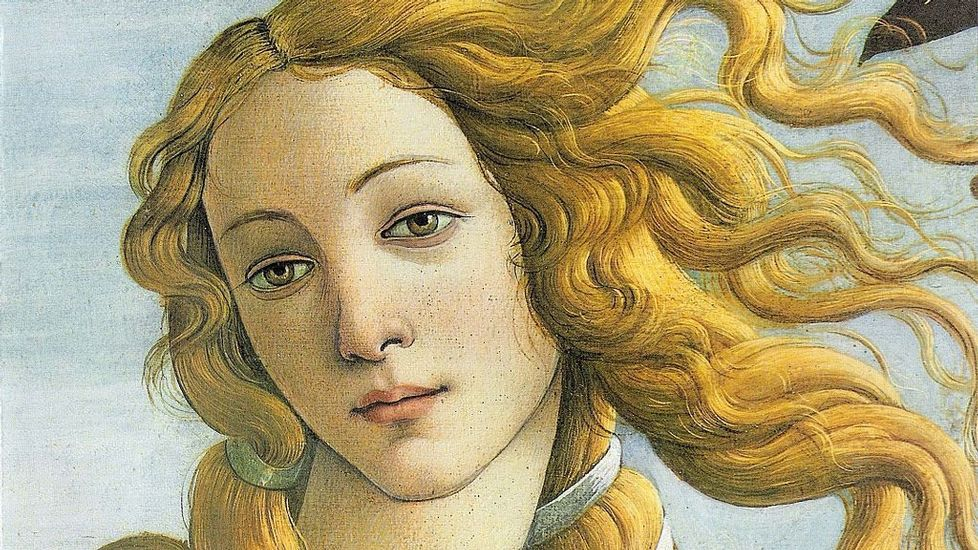 El protagonismo del cabello es extraordinario en la obra «El nacimiento de Venus» (1485), de Sandro Boticelli, para la cual escogió como modelo a la joven Simonetta Cattaneo. El cuadro se conserva en la Galería de los Uffizi de Florencia