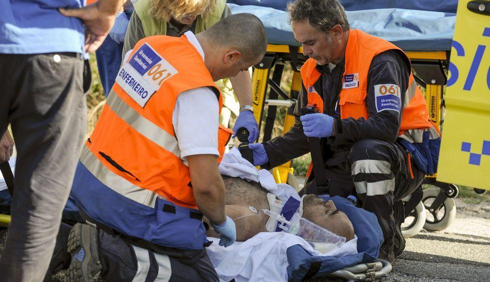 El rescate del piloto, que resultó herido, se vio dificultado por el complicado acceso.