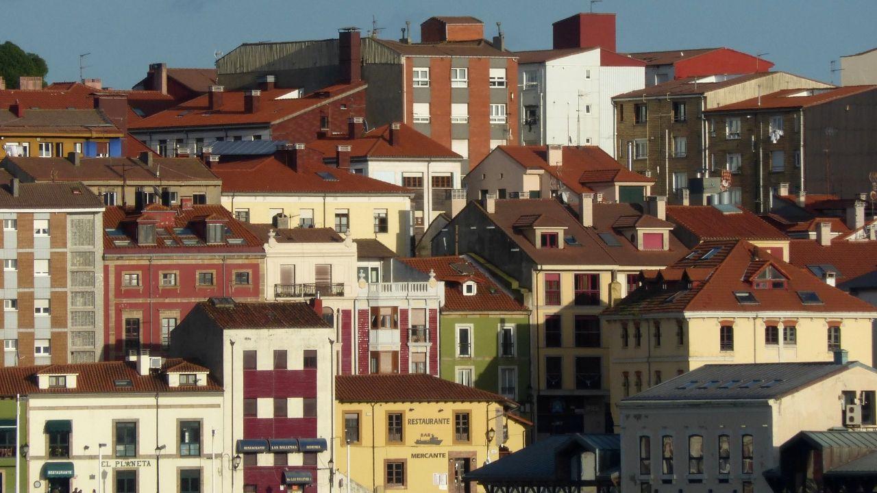 Edificios del centro de Gijón