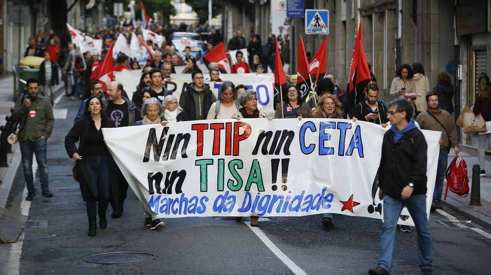 Protesta en A Coruña
