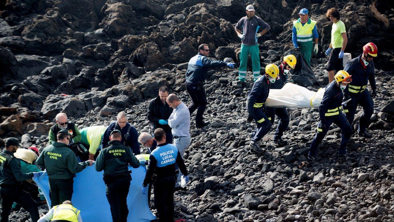 En enero del 2018 seis inmigrantes magrebís fallecieron en Lanzarote tras encallar una patera